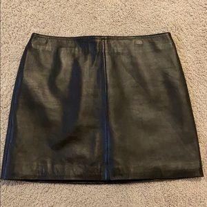 Old Navy Leather Black Skirt